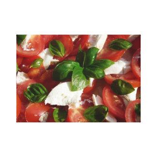 Tomato and Mozzarella Salad Canvas Print
