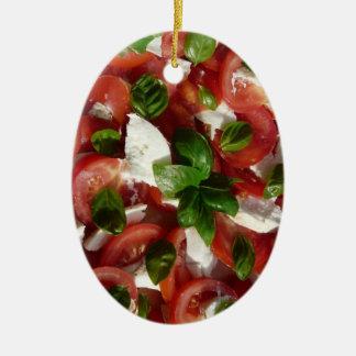 Tomato and Mozzarella Salad Christmas Tree Ornaments