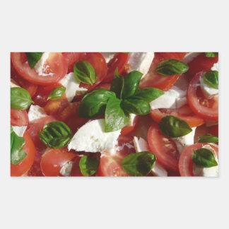 Tomato and Mozzarella Salad Rectangular Sticker