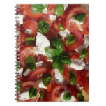 Tomato and Mozzarella Salad Spiral Notebooks