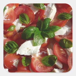 Tomato and Mozzarella Salad Square Sticker