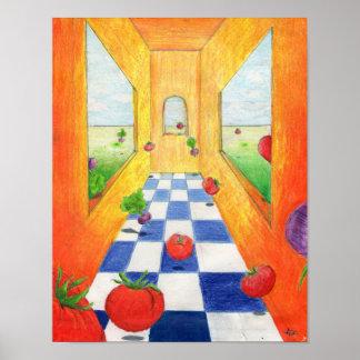 Tomato and Radish Kitchen Print Salad Party!