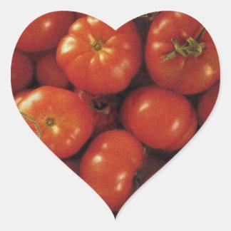 Tomato Art Heart Sticker
