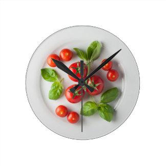 Tomato & Basil Wall Clock