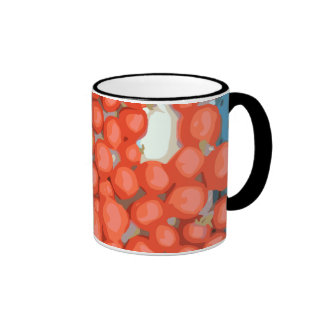 Tomato Batches, Ripe and Juicy Ringer Mug