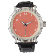 Tomato-Bisque Wrist Watch
