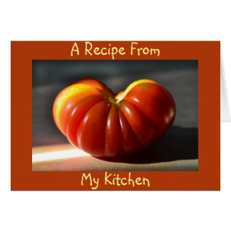 Tomato Blank Recipe Card