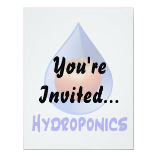 Tomato blue drop blue text hydroponic design card