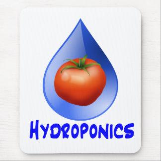 Tomato blue drop blue text hydroponic design mouse pad