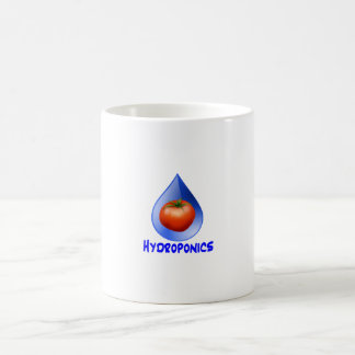 Tomato blue drop blue text hydroponic design coffee mugs