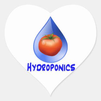 Tomato blue drop blue text hydroponic design sticker