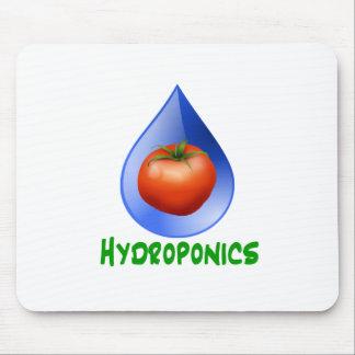 Tomato blue drop green text hydroponics mouse pad