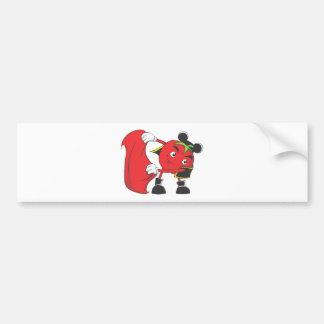 Tomato Bull Fighter Car Bumper Sticker