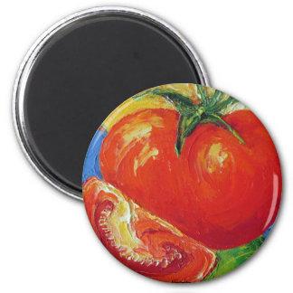 Tomato by Paris Wyatt Llanso 2 Inch Round Magnet
