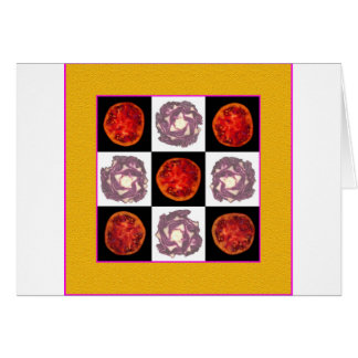 Tomato Cabbage Grid Greeting Cards