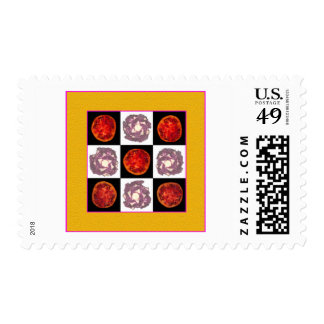 Tomato Cabbage Grid Stamp