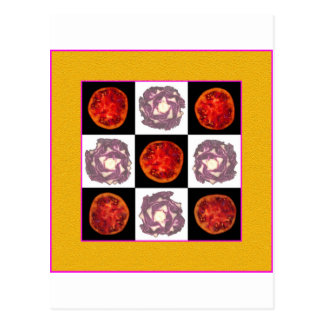 Tomato Cabbage Grid Postcard