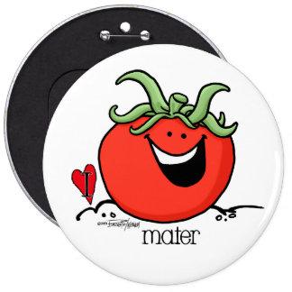 Tomato Cartoon - Veggie button