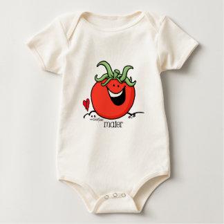 Tomato Cartoon - Veggie organic Baby Bodysuit