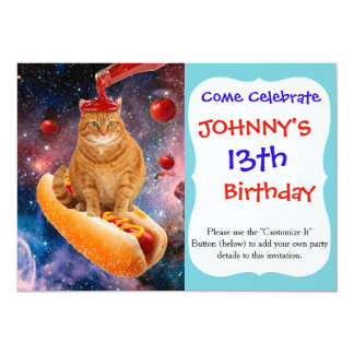 Tomato cat - hot dog cat - catchup - cute kittens card