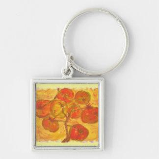 tomato cluster watercolour keychain