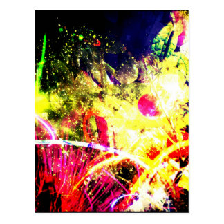 Tomato Color Explosion Postcard
