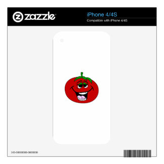 Tomato Face Skin For iPhone 4