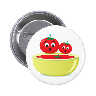 Tomato falling into tomato soup food button