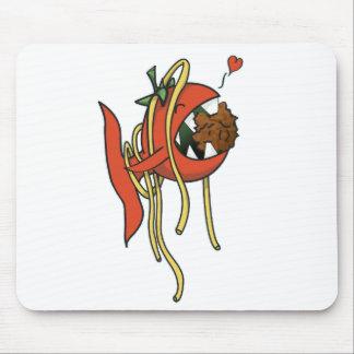 Tomato Fish loving spaghetti Mouse Pad