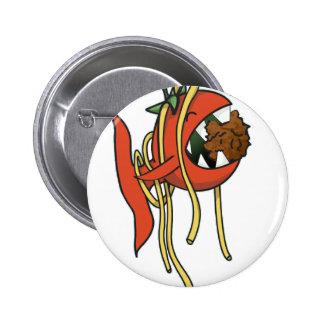Tomato Fish loving spaghetti Pinback Button