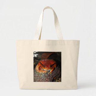 Tomato frog large tote bag