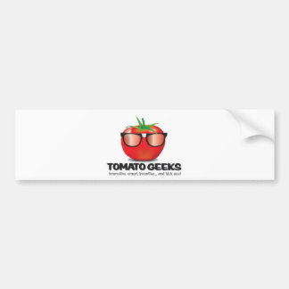 Tomato Geek Stuff Bumper Sticker