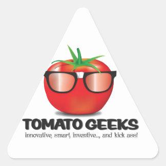 Tomato Geek Stuff Triangle Sticker