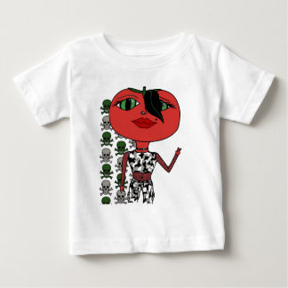 Tomato Girl - George with Skulls Baby T-Shirt