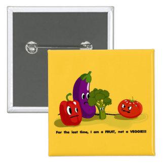 Tomato humor 2 inch square button