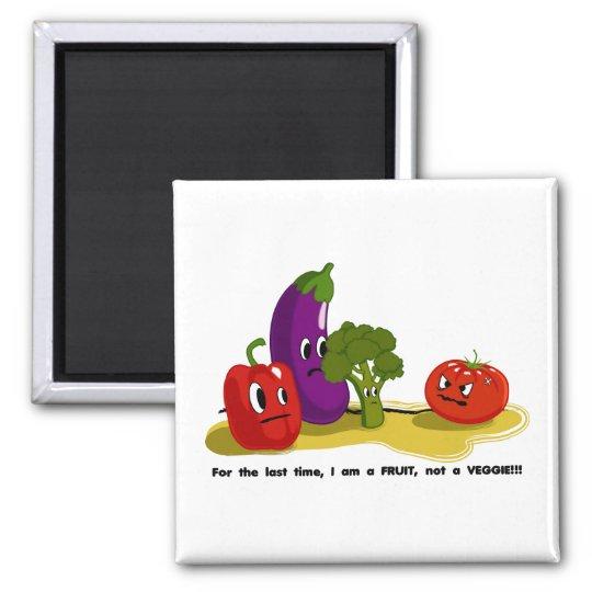 Tomato humor 2 inch square magnet