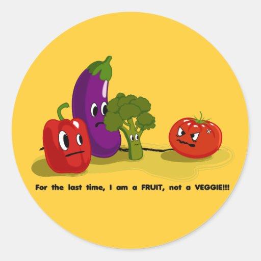 Tomato humor classic round sticker