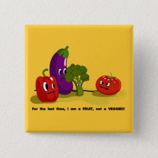 Tomato humor pinback button