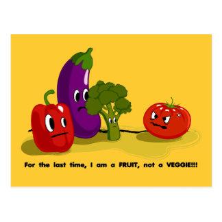Tomato humor postcard
