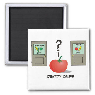 Tomato-Identity Crisis Refrigerator Magnets