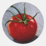 TOMATO IN COLOR PENCIL: ART CLASSIC ROUND STICKER