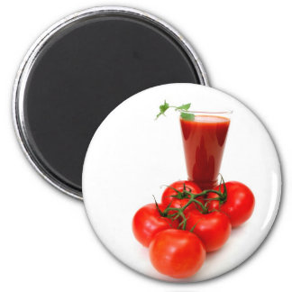 Tomato Juice And Fresh Tomatoes Magnet