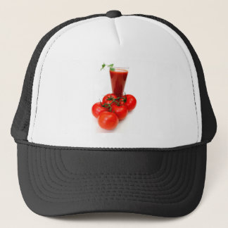 Tomato Juice And Fresh Tomatoes Trucker Hat