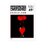 Tomato Juice on Black Bloody Mary bev Stamps Stamp