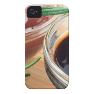 Tomato ketchup and soy sauce in a transparent bowl iPhone 4 Case-Mate case