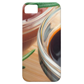 Tomato ketchup and soy sauce in a transparent bowl iPhone SE/5/5s case