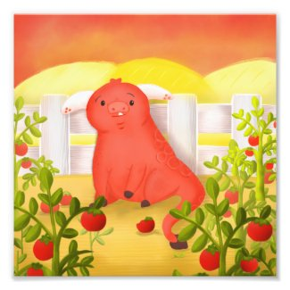 Tomato Monster Photo Print