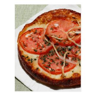 Tomato Onion Pizza Postcard