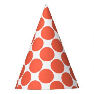 Tomato Orange Polka Dot Party Hat