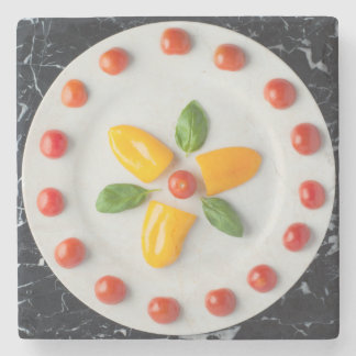 Tomato, Pepper & Basil Drinks' Coaster